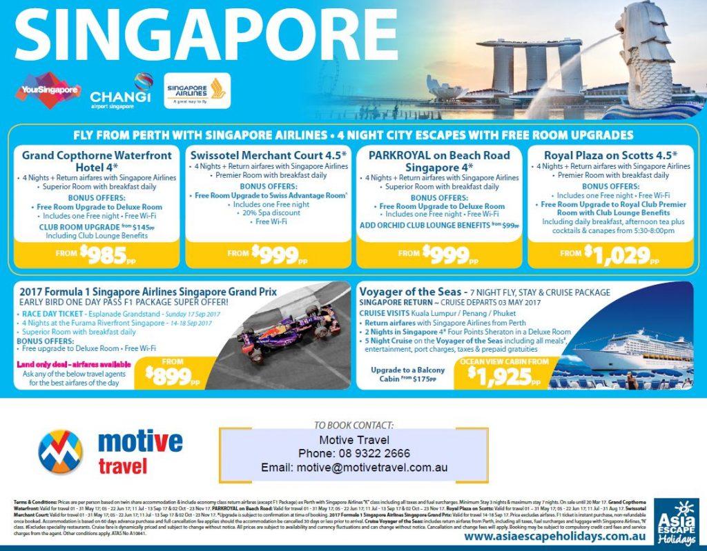 Asia Escape Singapore City Escapes packages 12Mar17