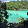 Ziplining between Sapi and Gaya Island